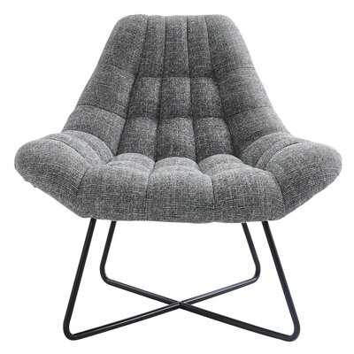 Guerrier Mid Century Side chair Upholstery: Gray Blend