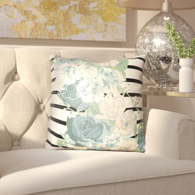 Langridge Indoor/Outdoor Throw Pillow Size: 18 H x 18 W x 3 D, Color: Blue