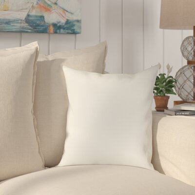 Halliburton Indoor/Outdoor Sunbrella Throw Pillow Color: Spectrum Eggshell, Size: 18 x 18
