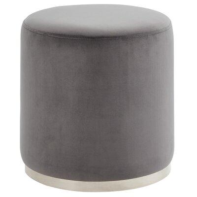 Hedrick Velvet Ottoman Upholstery: Gray, Color: Silver