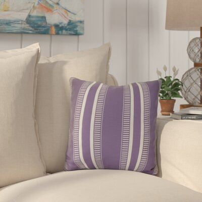 Mundell Outdoor Throw Pillow Size: 16 H x 16 W x 3 D, Color: Purple