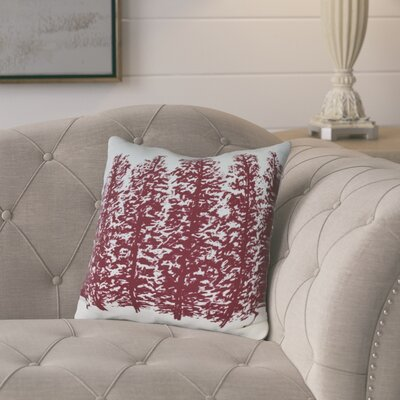 Meigs Hidden Forest Outdoor Throw Pillow Size: 16 H x 16 W, Color: Red