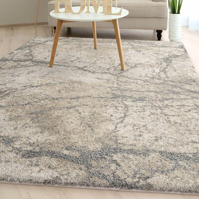 Greenwich Village Charcoal Plush Ivory Area Rug