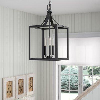 Gracie Oaks Sherri-Ann 60W 3-Light Foyer Pendant Finish: Black