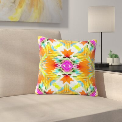 Dawid Roc Colorful Tribal Mosaic Tribal Outdoor Throw Pillow Size: 18 H x 18 W x 5 D