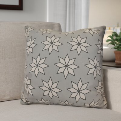 Christmas Decorative Holiday Indoor Geometric Print Throw Pillow Size: 26 H x 26 W, Color: Gray