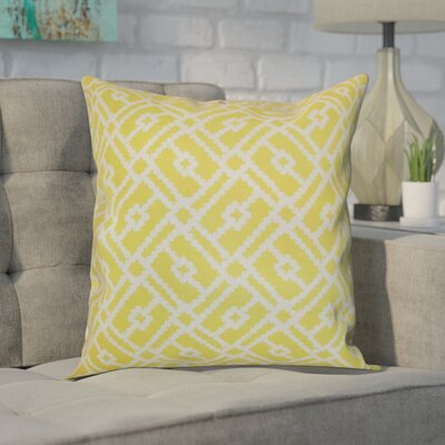 Ellefson Cotton Throw Pillow Color: Canary, Size: 20 x 20