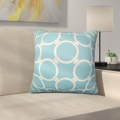 Sontag Geometric Cotton Throw Pillow Cover Color: Blue