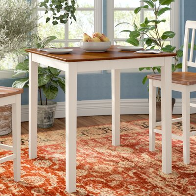 Givens Counter Height Dining Table Finish: Buttermilk and Cherry