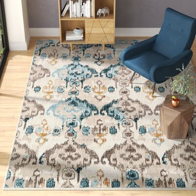 Francis Beige Area Rug Rug Size: Rectangle 102 x 135