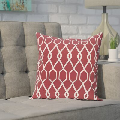 Bronstein Geometric Print Throw Pillow Size: 18 H x 18 W x 1 D, Color: Brick