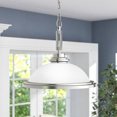 Dashiell 1-Light Inverted Pendant Base Finish: Brushed Nickel
