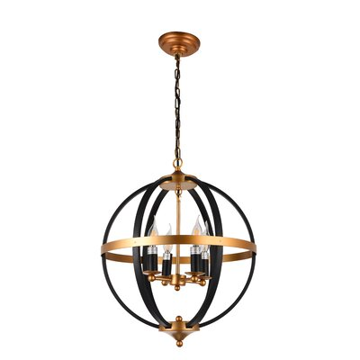 West Broadway 4-Light Globe Pendant