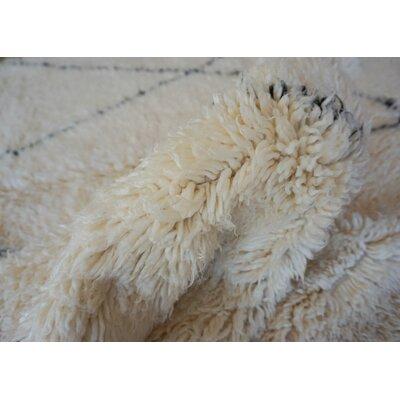 One-of-a-kind Frank Lloyd Beni Ourain Hand-Woven Wool Beige/Black Area Rug