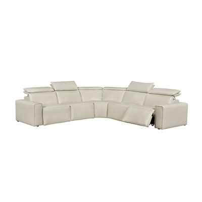 Santillo Leather Reclining Sectional