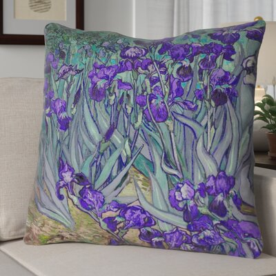 Morley Irises Euro Pillow Color: Purple