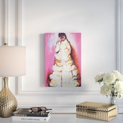 "'Woman with Binoculars' Acrylic Painting Print Size: 18"" H x 12"" W x 2"" D, Format: Canvas E3F7302B01734BF593DB5563EE0C50BF"
