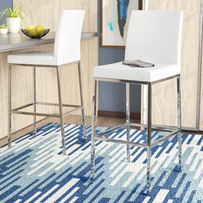 Onya Contemporary Bar Stool Upholstery: White