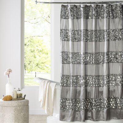 Brunilda Bedazzled Bling Fabric Shower Curtain