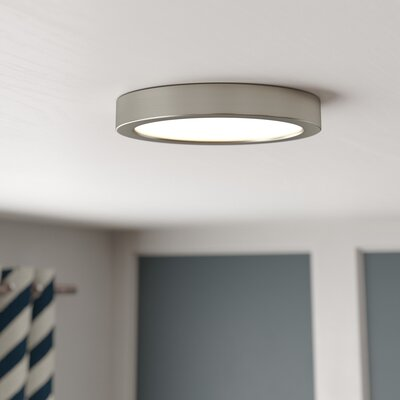 Authement 1-Light LED Flush Mount Finish: Brushed Nickel