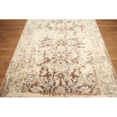 One-of-a-Kind Ratley Wool Beige/Brown Area Rug
