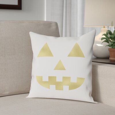 Jack OLantern Cotton Throw Pillow