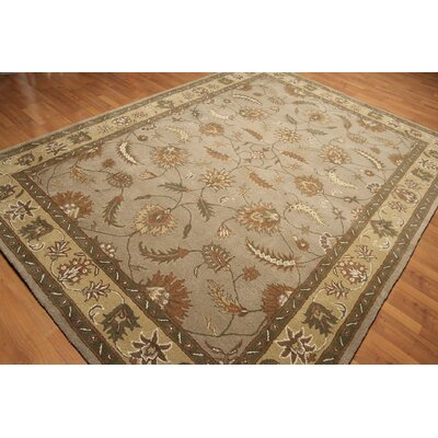 One-of-a-Kind Reeser Hand-Knotted Wool Gray/Brown Area Rug