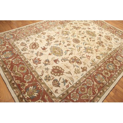 One-of-a-Kind Reger Hand-Knotted Wool Beige/Rust Area Rug
