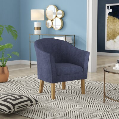 Causey Barrel Chair Upholstery: Navy