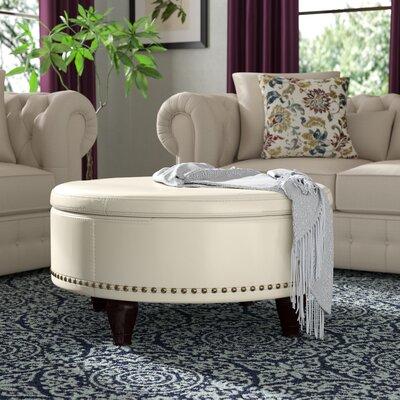Ellen Storage Ottoman Upholstery: Cream