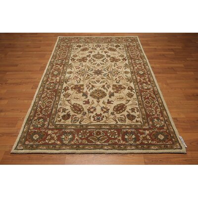 One-of-a-Kind Dillow Hand-Tufted Wool Beige/Rust Area Rug