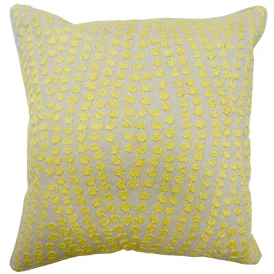 Gainey Dotted Linen Embroidery Cotton Pillow Cover