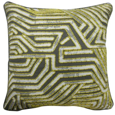 Overholt Maze Design Cotton Pillow Cover