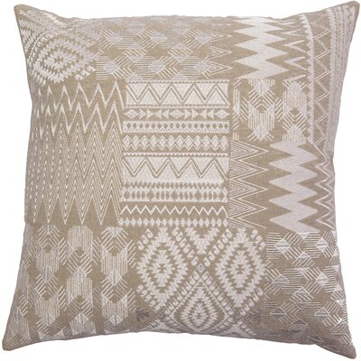 Overbeck Embroidered Patchwork Linen Pillow Cover Color: Ivory