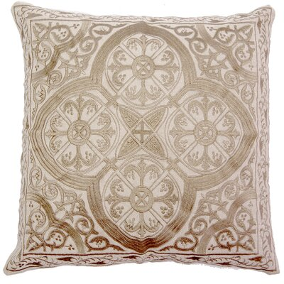 Mchale Quatrefoil Linen Pillow Cover Color: Gray