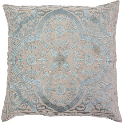 Mchale Quatrefoil Linen Pillow Cover Color: Turquoise