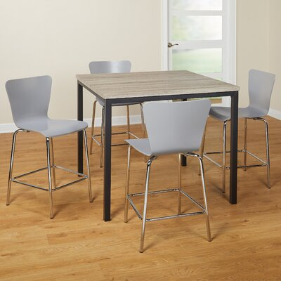 Lipton 5 Piece Pub Table Set Color: Gray