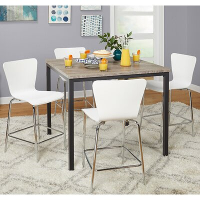Lipton 5 Piece Pub Table Set Color: White