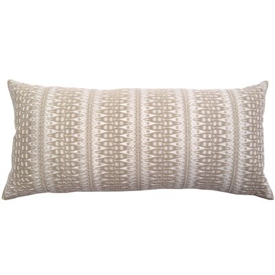 Palomares Backgamon Embroidery Linen Pillow Cover Color: Ivory