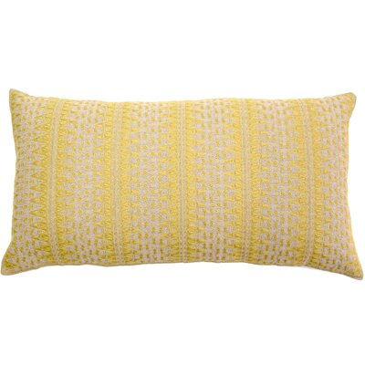 Palomares Backgamon Embroidery Linen Pillow Cover Color: Yellow