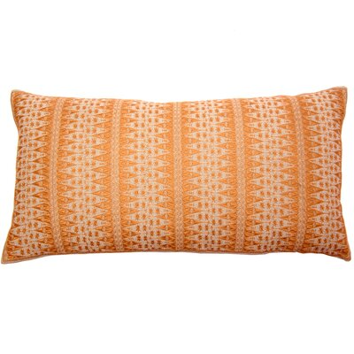Palomares Backgamon Embroidery Linen Pillow Cover Color: Orange