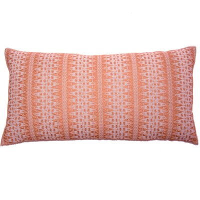 Palomares Backgamon Embroidery Linen Pillow Cover Color: Coral