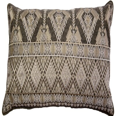 Ouzts Diamond Geo Embroidery Pillow Cover Color: Ivory