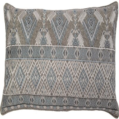 Ouzts Diamond Geo Embroidery Pillow Cover Color: Turquoise