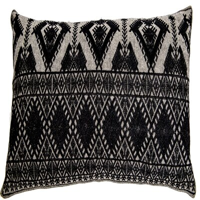 Ouzts Diamond Geo Embroidery Pillow Cover Color: Black