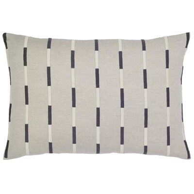 Sacco Rectangle Embroidery Stripes Linen Pillow Cover