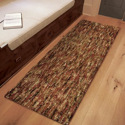 Caston Solid Design Red/Beige Area Rug Size: Runner 111 X 76