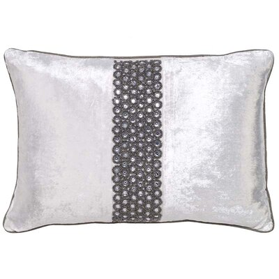 Mcgruder Crystals Velvet Pillow Cover Color: Sterling Ivory