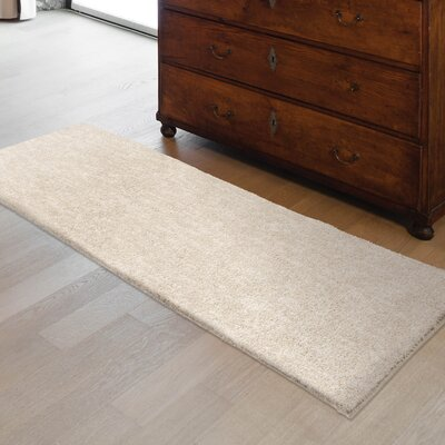 Catalano Solid Design Cream/Ivory Area Rug Size: Runner 111 X 76