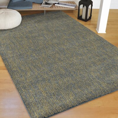Castrejon Solid Design Blue/Green Area Rug Size: Rectangle 53 X 76